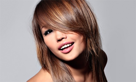 Haircut, Wash, and Style with Optional Partial Highlights at The Grapevine Hair Studio (Up to 66% Off)