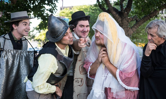 "The Vortex Theater presents ""Romeo & Juliet"" or ""A Midsummer Night's Dream"" - Albuquerque Civic Plaza: ""Romeo & Juliet"" or ""A Midsummer Night's Dream"" at Albuquerque Civic Plaza on June 20—July 13 (Up to 40% Off)"