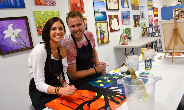 Simply Art Studios - Oldsmar: BYOB Art Classes for One or Two at Simply Art Studios (Up to 50% Off)
