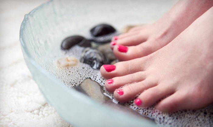 Pure Spa and Salon - Dallas: $54 for a Spa Manicure and Hot-Stone Pedicure with Spa Access at Pure Spa and Salon ($120 Value)
