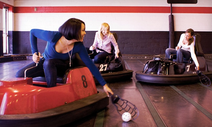 WhirlyBall - Multiple Locations: $64 for 30 Minutes of WhirlyBall or Laser Tag for Up to 10 Players at WhirlyBall ($150 Value)