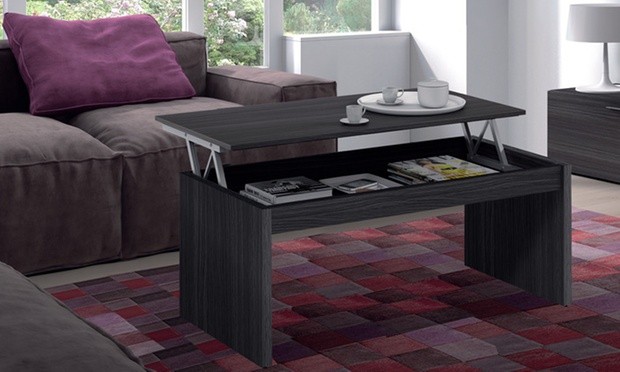 Table basse avec plateau relevable groupon for Groupon table basse
