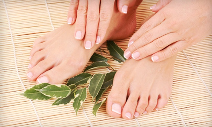 Bella Sisters Salon & Spa - Bella Sisters Salon & Spa: One or Three Shellac Manicures with Express Pedicures and Take-Home Sugar Scrub at Bella Sisters Salon & Spa (51% Off)