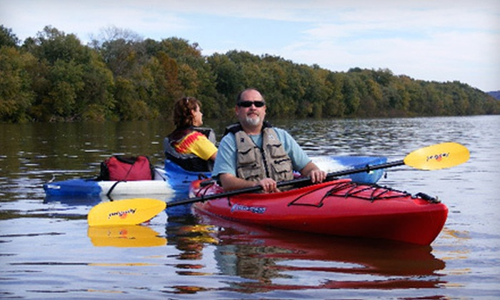 Chiques Rock Outfitters - Columbia: Kayak Rental for One, or Kayak or Canoe Rental for Two from Chiques Rock Outfitters (58% Off). Four Options Available.