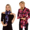 Set of 2 Floral Print Scarves From Isaac Mizrahi Live!
