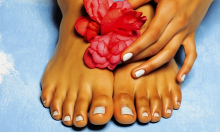$49 for a Mani-Pedi Package with Wine or Coffee & Strawberries at Essence of Nails ($105 Value)