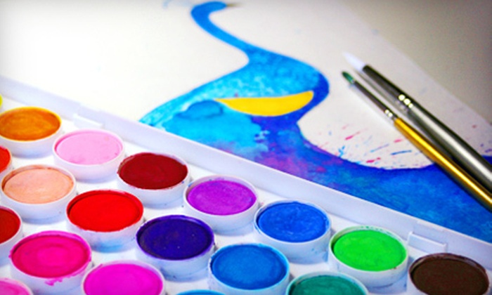 HoustonArtLessons.com - River Oaks/Montrose: Two-Hour BYOB Watercolor Painting Class for One or Two at HoustonArtLessons.com (51% Off)