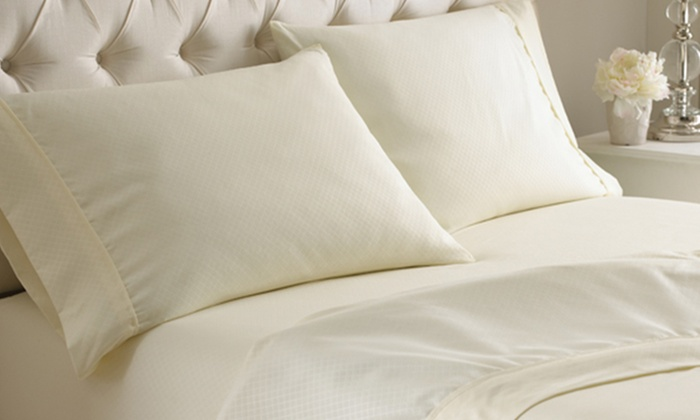 Hotel New York Diamond Microfiber Sheet Sets: Hotel New York Embossed Diamond Microfiber Sheet Set. Multiple Colors Available from $19.99–$22.99. Free Shipping.