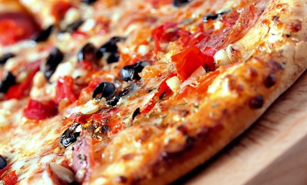 One Medium or Large Pizza with Three Toppings and Cheese Breadsticks at Checkers Pizza & Ribs (Up to47% Off)