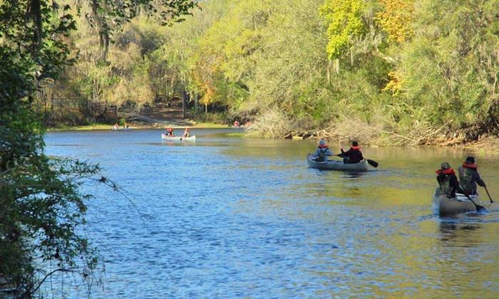 Santa Fe Canoe Outpost - High Springs-Alachua: Kayak and Canoe Trips from Santa Fe Canoe Outpost (Up to Half Off). Four Options Available.