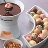 Fondue au chocolat pour 2 avec boissons chaudes