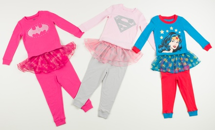 Girls' DC Comics Pajama Sets with Tutus. Multiple Options Available. Free Returns.