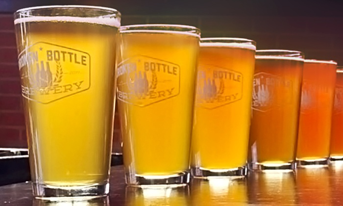 Broken Bottle Brewery - Albuquerque Westside: Craft-Beer Flights and Appetizers for Two or Four at Broken Bottle Brewery (Up to 40% Off)