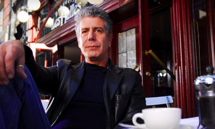 """Good vs. Evil: An Evening with Anthony Bourdain and Eric Ripert"" - Downtown Providence: ""Good vs. Evil: An Evening with Anthony Bourdain and Eric Ripert"" at Providence Performing Arts Center on May 2"