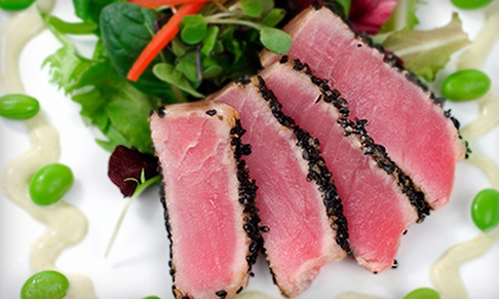Haiku Sushi & Steakhouse - North Point Commons: Hibachi or Sushi Dinner for Two with Wine or Dessert at Haiku Sushi & Steakhouse (Up to 54% Off)