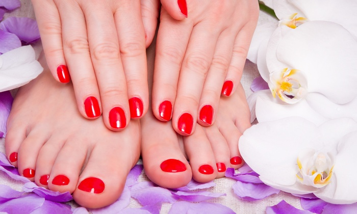 Vicky Nails - Inside Trang's Nail Salon: $29 for a Shellac Manicure and Traditional Pedicure at Vicky Nails ($60 Value)