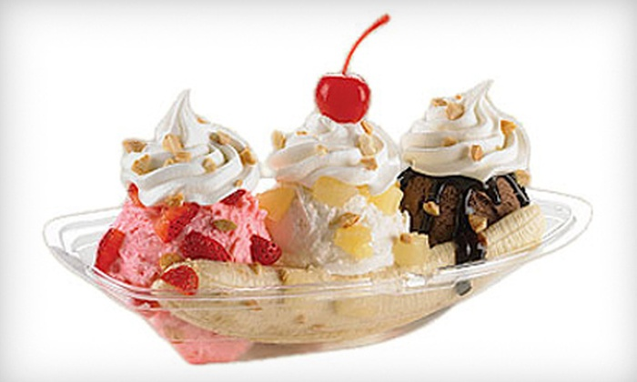 Marble Slab Creamery - Cambie & West Broadway: Two Medium Ice-Cream Cones with Mix-Ins, Two Litres of Ice Cream, or Ice-Cream Cake at Marble Slab Creamery (Half Off)