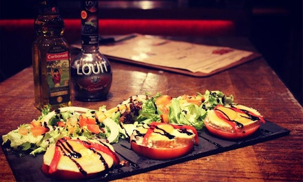 AllYouCanEat Christmas Tapas with a Glass of Sangria for One, Two or Four at Cañas y Tapas