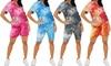 Women's Tie-Dye Shorts Set
