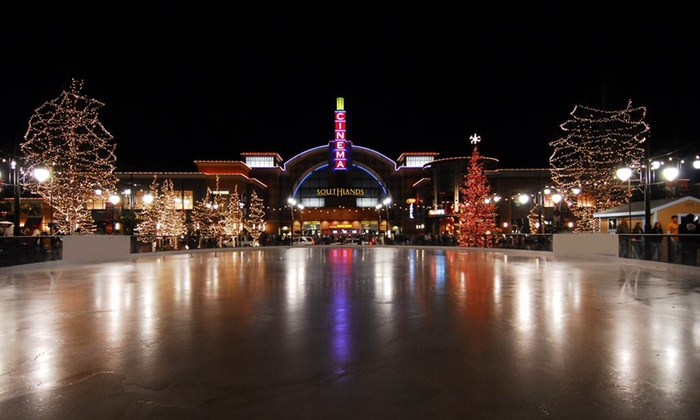 The Pond Ice Rink at Southlands - Tallyn's Reach: Outdoor Ice Skating with Skate Rentals for Two or Four at The Pond at Southlands (Up to 52% Off)