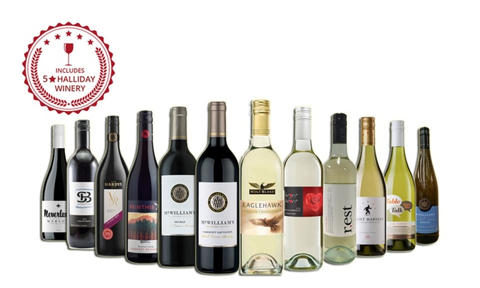 Just Wines: $65 for 12 Bottles of Red, White or Mixed Wine Including Five-Star Winery Wines (Don't Pay $199)