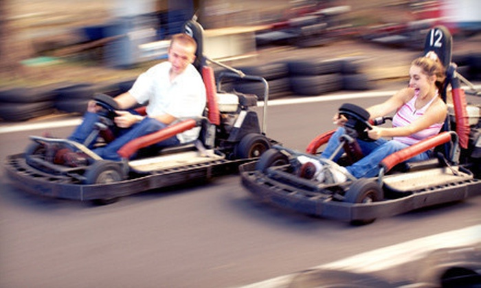 Raceway to Fun - Newport: $13 for Choice of Five Go-Kart, Driving-Range, Bumper-Boat, and Mini-Golf Sessions at Raceway to Fun (Up to $26 Value)