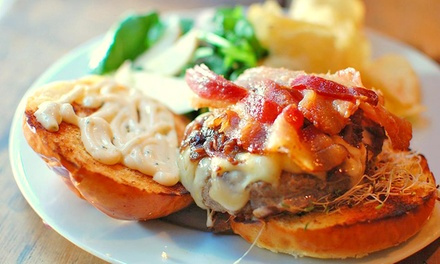 Turkey or Veggie Burgers and Beers for Two or Four at Skytown (42% Off)