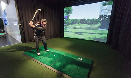 One or Three Golf-Simulator Sessions at Mountain Meadow Golf Lounge & Event Center (Up to 63% Off)