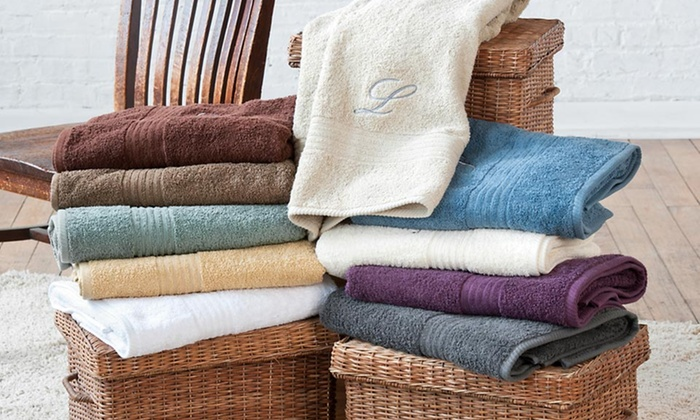 Spa Collection Monogrammed Towel Set: 3- or 6-Piece Spa Collection Monogrammed Egyptian Cotton Towel Set (Up to 57% Off). 10 Colors. Free Shipping & Returns.