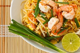 Baan Thai: $1 Buys You a Coupon for 1 Free Glass Of Wine With Purchase Of $15 Or More On Food at Baan Thai