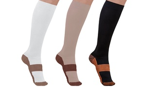 Unisex Copper-Infused Compression Socks (5-Pack)