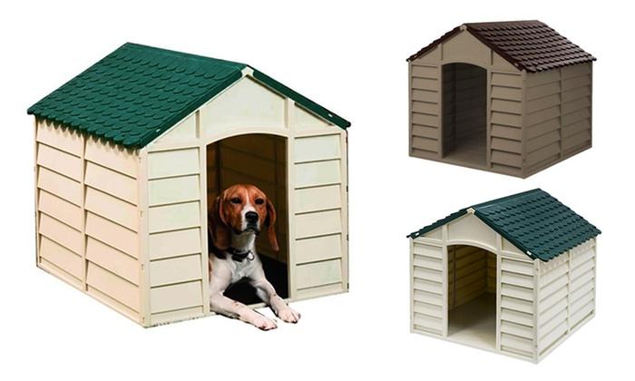 Casetas de resina para perros groupon goods - Casetas de resina ...