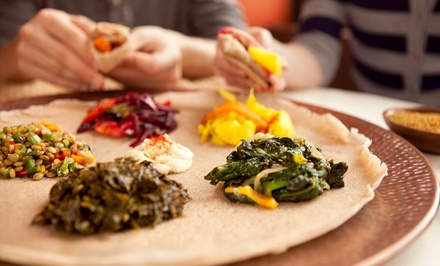 Washington DC: Upscale Ethiopian Cuisine at Meskerem Ethiopian Restaurant (Up to 47% Off)