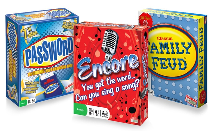 Party Board Games: $6.99 for Family Feud, Encore, or Password Board Games (Up to $17.80 List Price)