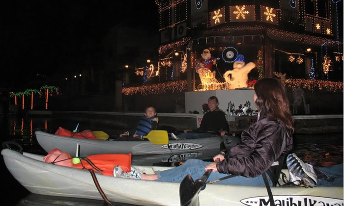 OEX Sunset Beach - Huntington Beach: $25 for a Kayak Tour to See Holiday Lights Along Huntington Harbor from OEX Dive and Kayak – Sunset Beach ($55 Value)
