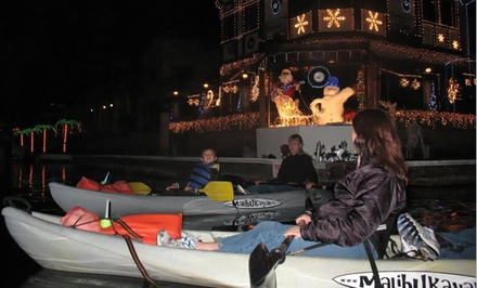 $25 for a Kayak Tour to See Holiday Lights Along Huntington Harbor from OEX Dive and Kayak – Sunset Beach ($55 Value)