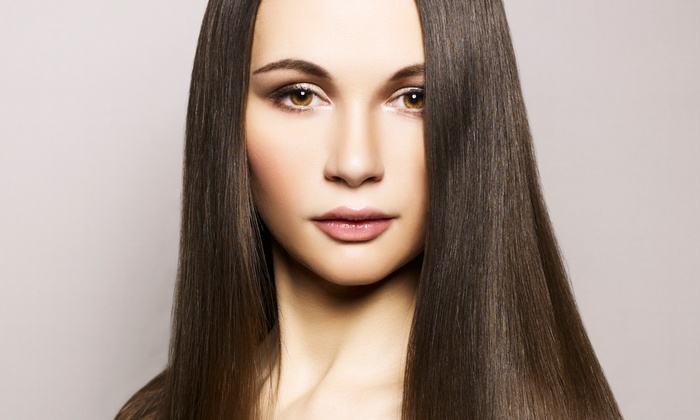 The Violetz Design at Sola Salon Studios - Sola Salon Studio: Cut with Keratin Treatment or Condition with Optional Color or Highlights at The Violetz Design (Up to 65% Off)