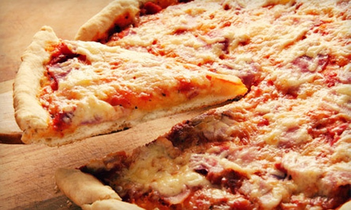 B-Town Pizza - Green Acres: Pizza Meals with One or Two Large Pizzas, Breadsticks, and Soda at B-Town Pizza in Bloomington (Up to 51% Off)