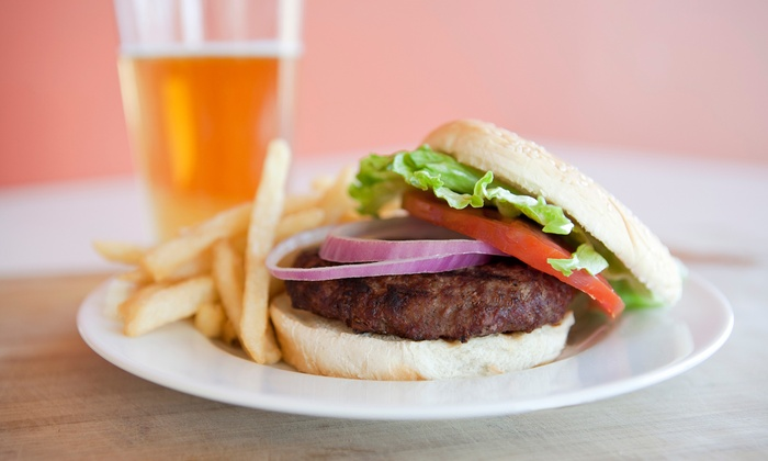 Captain's on Long Lake - Bradford: Burger with Fries and Drinks for Two or Four at Captain's on Long Lake (Up to 51% Off)
