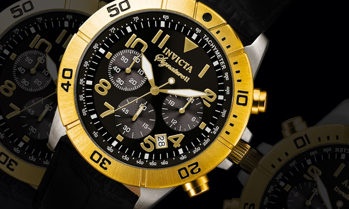 Invicta Signature or Specialty Chrono Men's Watches: Invicta Signature or Specialty Chrono Men's Watches. Multiple Styles Available. Free Shipping and Returns.