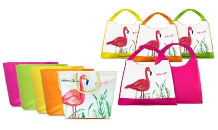 Borsa mare Flamingo con doppio manico