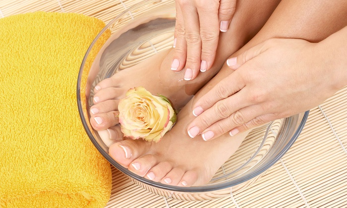 Casa De Bellini Salon & Spa - Whittier: Walking on a Cloud Spa Mani-Pedi or Signature Hot-Rock Mani-Pedi at Casa De Bellini Salon & Spa (Up to 51% Off)