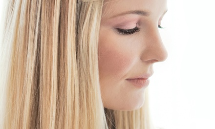 Haircut and Conditioning Treatment with a Style or Partial Highlights at Bang Hair Studio LLC (50% Off)