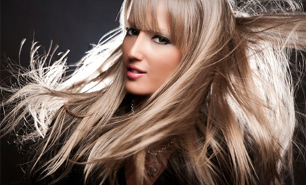 Haircut, Blow-Dry, and Deep-Conditioning Treatment (a $90 value) - Q Salon & Spa in Chadds Ford
