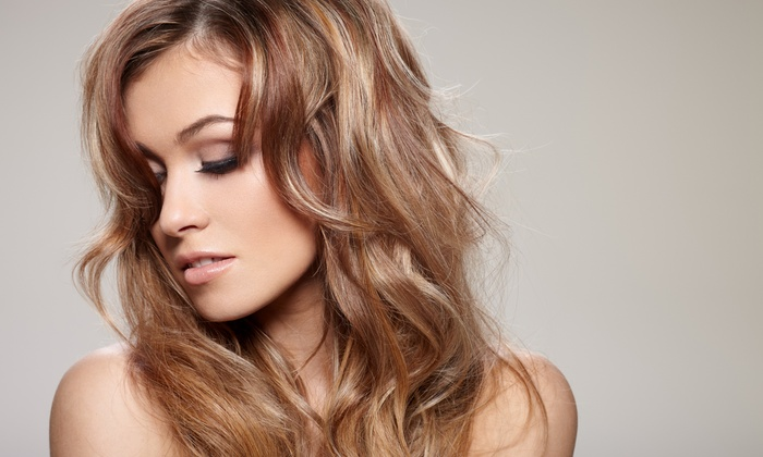 The G Spa Salon - Encino: Aveda Concept Salon Haircut Package with Options for Full Color or Highlights, Or Conditioning Treatment (Up to 55% Off)