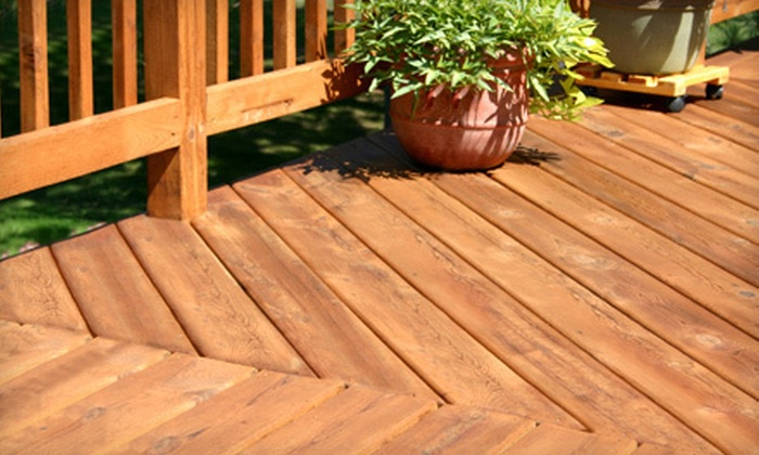 AFC Building Services LLC - Lake Orion: Power-Washing, Staining, or Sealing Services from AFC Building Services LLC (Up to 60% Off). Three Options Available.