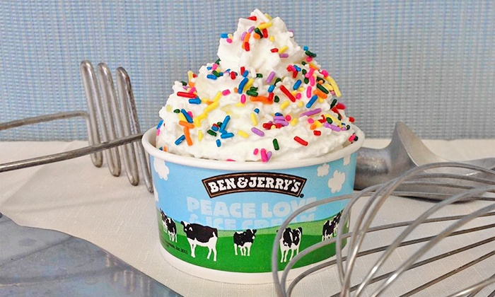 Ben & Jerry's - University Heights: One or Three Groupons, Each Good for $12 Worth of Frozen Treats at Ben & Jerry's (50% Off)