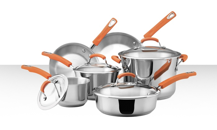 Rachael Ray 10-Piece Stainless Steel Cookware Set: Rachael Ray 10-Piece Stainless Steel Cookware Set. Free Returns.