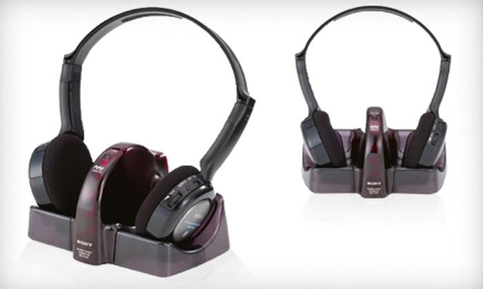 Sony Wireless Headphones: $39 for One Pair of Sony Wireless Headphones ($59.99 List Price)