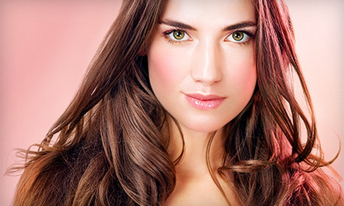 Isaac B. Salon - Midtown: Haircut, Moroccanoil Treatment, and Blowout with Optional Color or Highlights at Isaac B. Salon (Up to 72% Off)